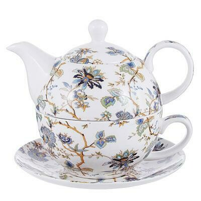 "802-406 MILLIMI Жар птица Чайный набор ""Эгоист"", чайник 420мл, чашка 300мл., блюдце 15см., костяной фарфор"