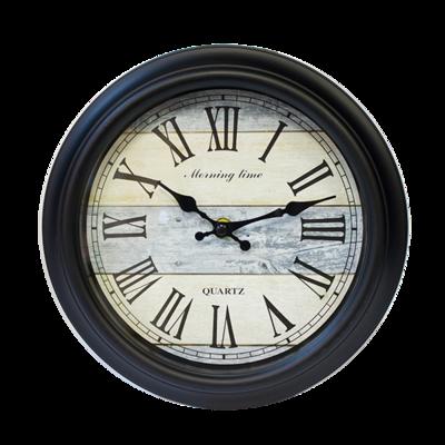 Часы настенные 24 см черные