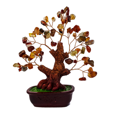 012139 Дерево Сердолик оранжево-коричневый 16х18 см, натуральный камень