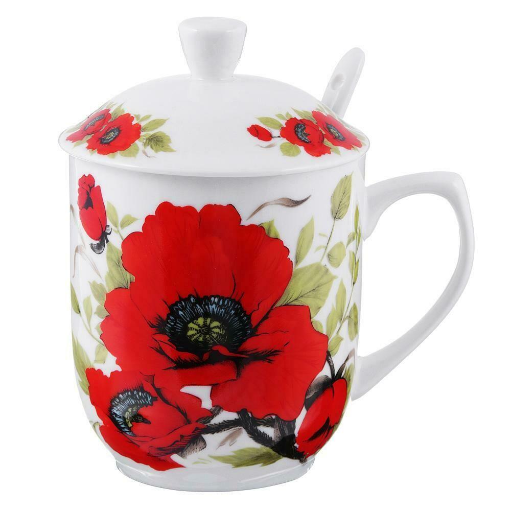 802-359 Вдохновение Набор чайный (кружка 360мл, ситечко, ложка, крышка), костяной фарфор