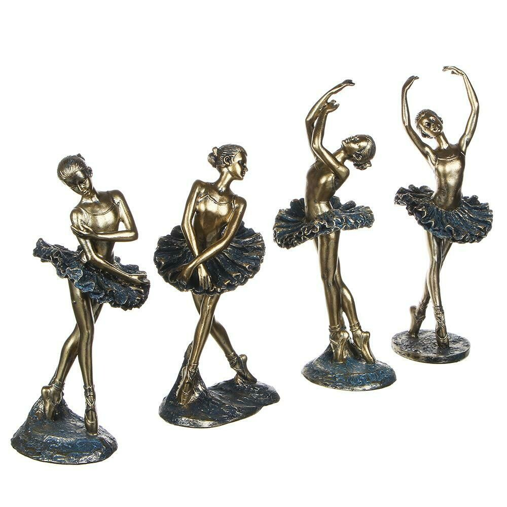 509-827 Статуэтка в виде балерины, 21-24 см, 4 дизайна, полистоун