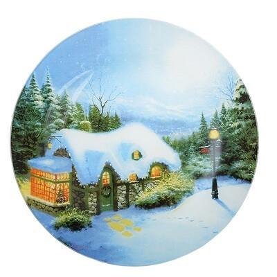 820-039 Рождественская сказка Блюдо круглое, 25см, стекло