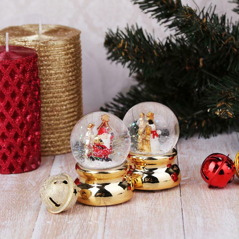 """396-545 Шар снежный, 6,3 см, полистоун, """"Новогодний"""", 2 дизайна на золоте"""