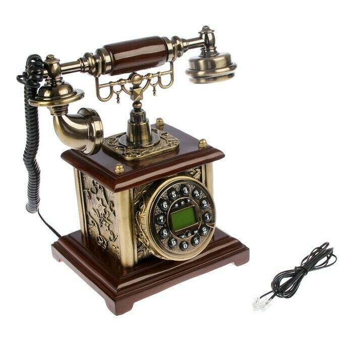 2712636 Телефон ретро полистоун. Постамент 16*26 см