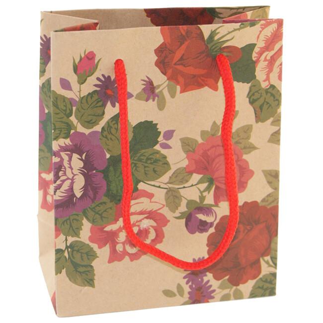 7480 Крафт-пакет подарочный, Размер: 11,5*14,5*6см