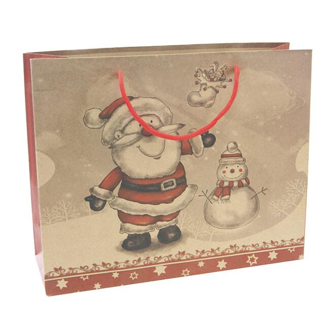 15259 Крафт-пакет подарочный новогодний ,Размер: 31*25*10 см