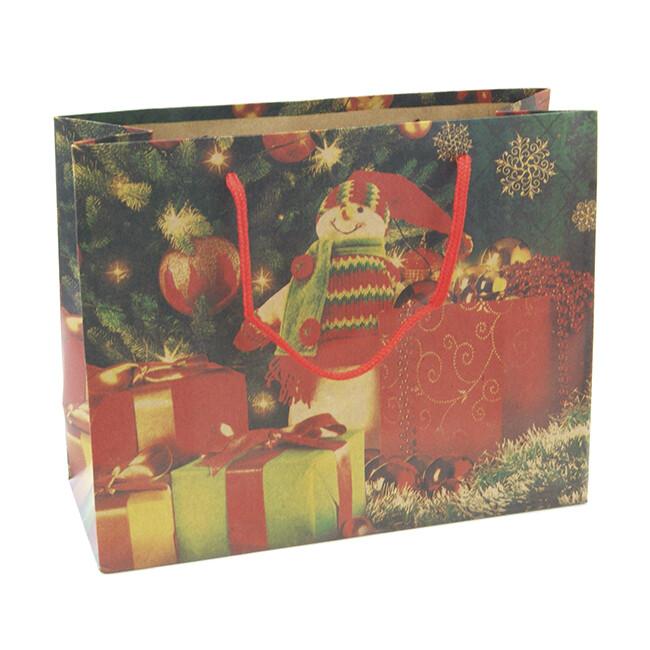 15269 Крафт-пакет подарочный новогодний , Размер: 24,5*19,5*9,5 см