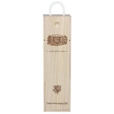 504-625 Коробка для вина подарочная, 35х10х10 см, дерево