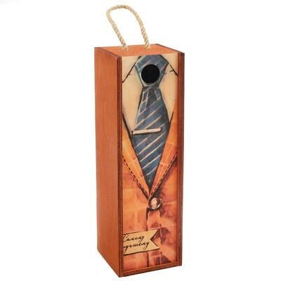 3643254 Коробка под бутылку «Самому лучшему», 11*33*11 см