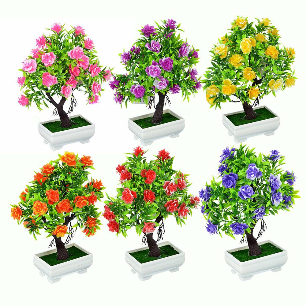 501-471 Цветок искусственный декоративный в горшке, 26х10,5х6,5 см, пластик, 6 цветов