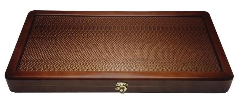 Нарды Питон Золотой большие NEW, 60х30х5 см.