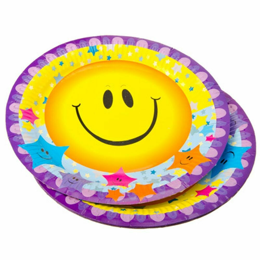 """437-187 Набор тарелок 10шт, бумажные с ламинацией, d23,5см, """"Веселый праздник"""""""