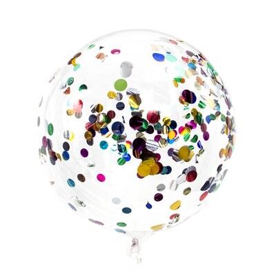 518-044  Шар воздушный с наполнителем конфетти, 18