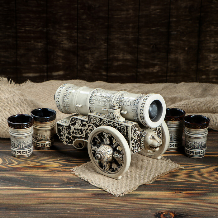 ШТ0153 Штоф Царь-пушка (глазурь)