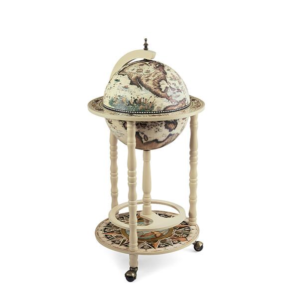 33001W(под заказ) Глобус-бар,диаметр шара - 33 см, высота глобуса в собранном виде - 85 см.
