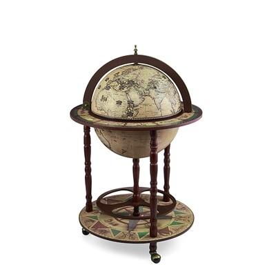 42001N Глобус-бар,напольный, современная карта мира на англ.яз