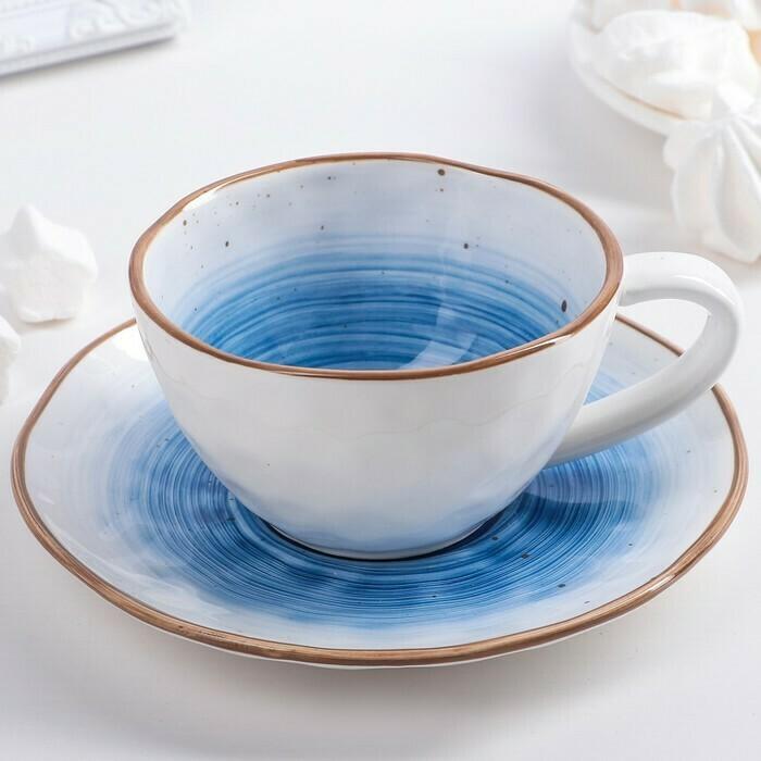 """3900251 Чайная пара """"Нептун"""": чашка 250 мл, блюдце 16 см"""