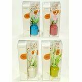12979 Ароматизатор керамика reed diffuser ваза в цветочек (4 аромата)  22*10*6 см
