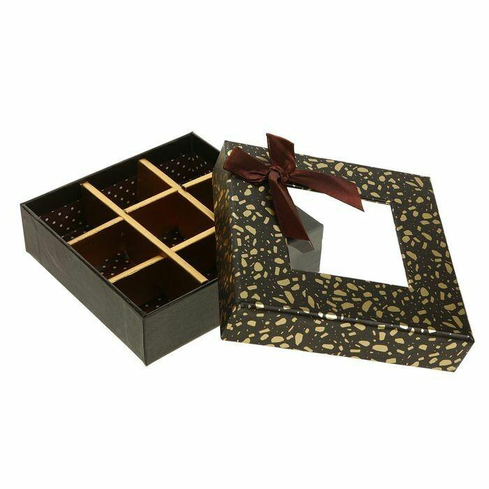 2489479 Коробка подарочная 13,5 х 13,5 х 4 см 2489479