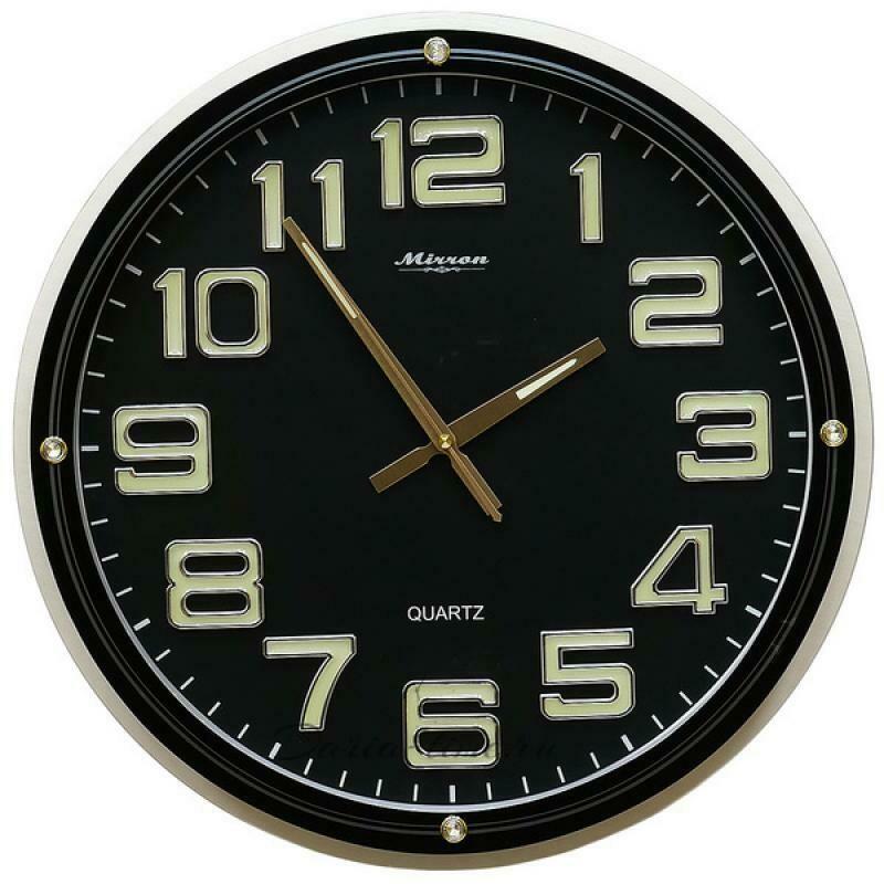 114396 Часы настенные MIRRON P2700BN ЧЧ, 440х440х50 мм