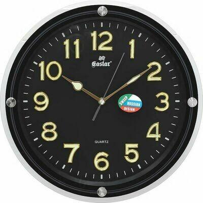 70036 Часы настенные GASTAR 895 YG B (пластик)340х340х45 мм,
