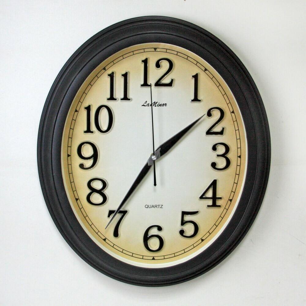104915 Часы настенные LA MINOR 22985 BLACK, 490х415х60 мм