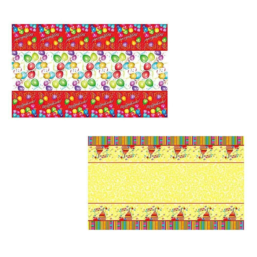 530-218 Капитан Весельчак Скатерть праздничная, 180х108см, полиэтилен, 30мкм, 2 вида