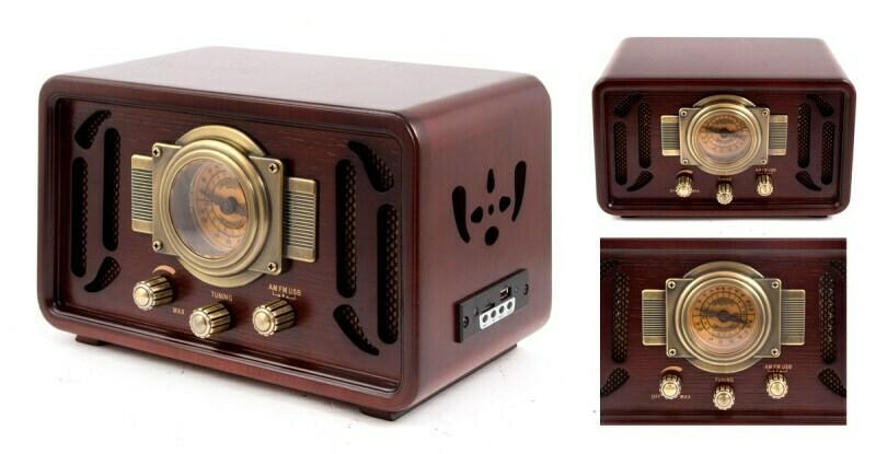 98829 Музыкальный центр-ретро: AM/FM, USB/micro SD 34*21*23см