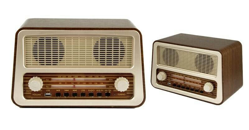98902 Музыкальный центр-ретро: AM/FM, USB 30*16*19см