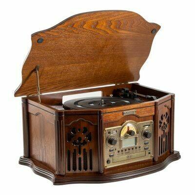 98828 Музыкальный центр-ретро. Функции: винил, AM/FM, CD, USB/SD 56*36*30см