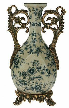 151197 Ваза декоративная, керамика 20*11*34см