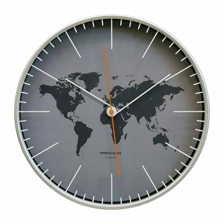 101729 Часы настенные ТРОЙКА 77777733, 300х300х50 мм
