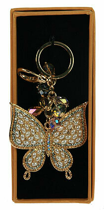 "64245 Брелок для сумочки и ключей ""Бабочка"""