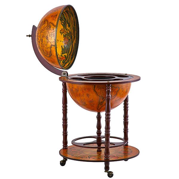 42001R Глобус-бар,диаметр сферы - 42 см, высота глобуса в собранном виде - 93 см.