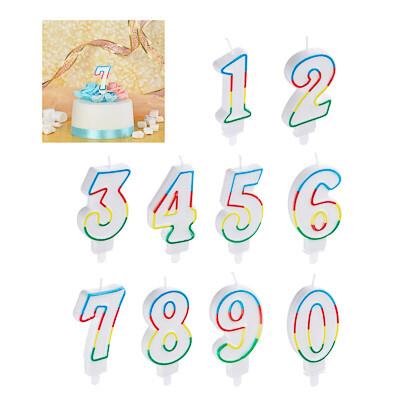 506-192 Капитан Весельчак Свеча для торта в форме цифр, парафин (0-9)