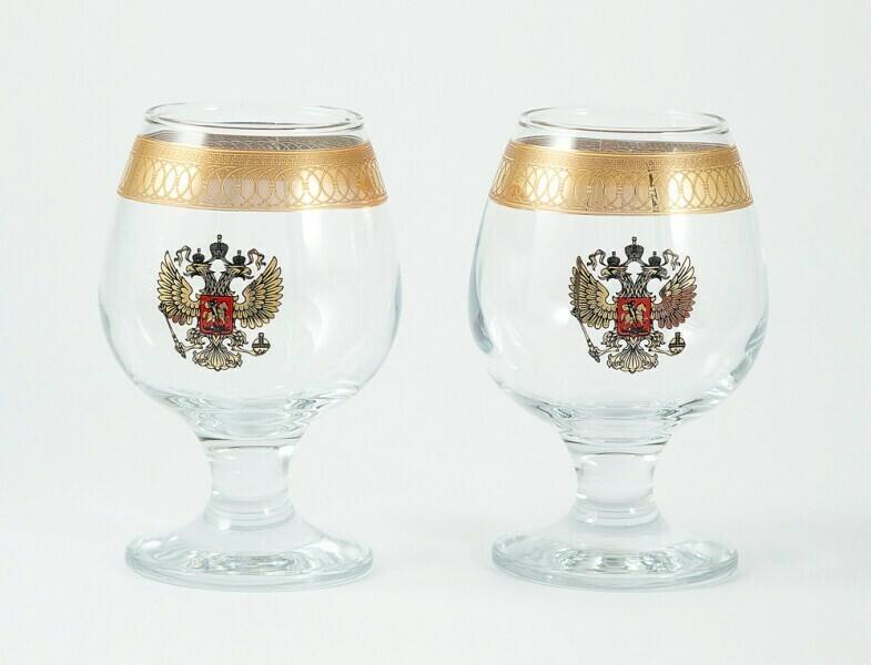 """58519 Подарочный набор для бренди """"Герб"""": 2 бокала 250мл"""