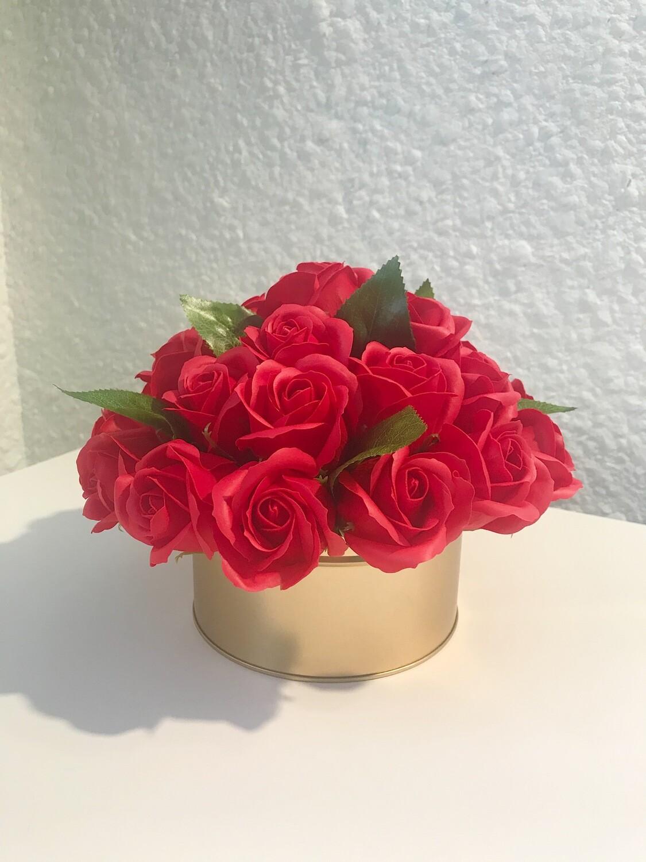 Композиция 27 мыльных роз