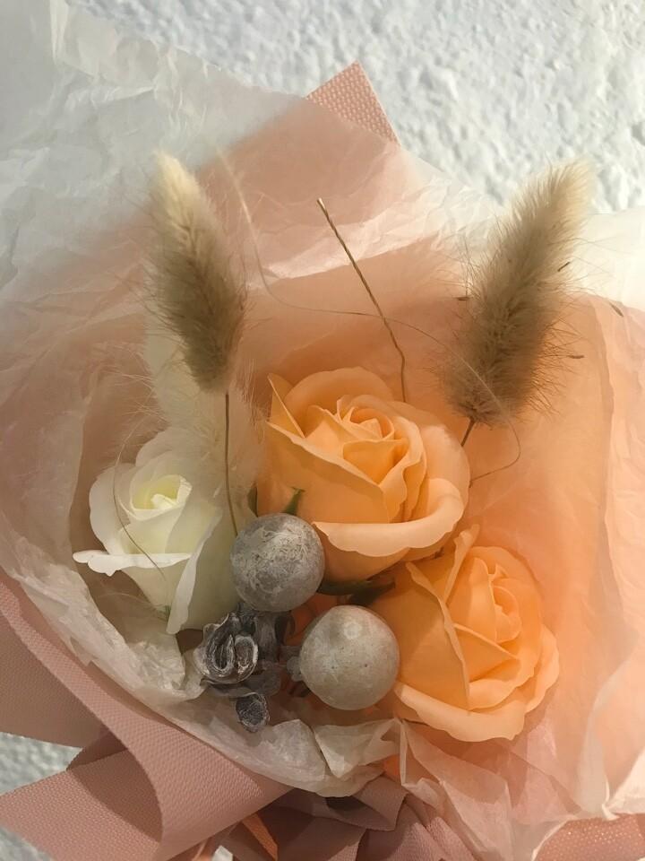 Букет  3 мыльные розы