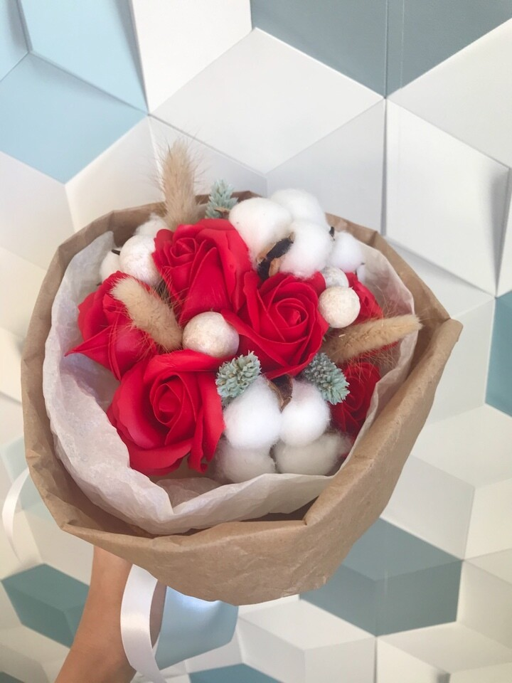 Букет  7 мыльных роз