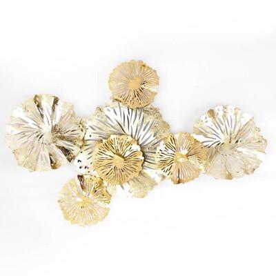 597-067 Панно декоративное, металл, 88,9x61,6x8,3см, арт 1