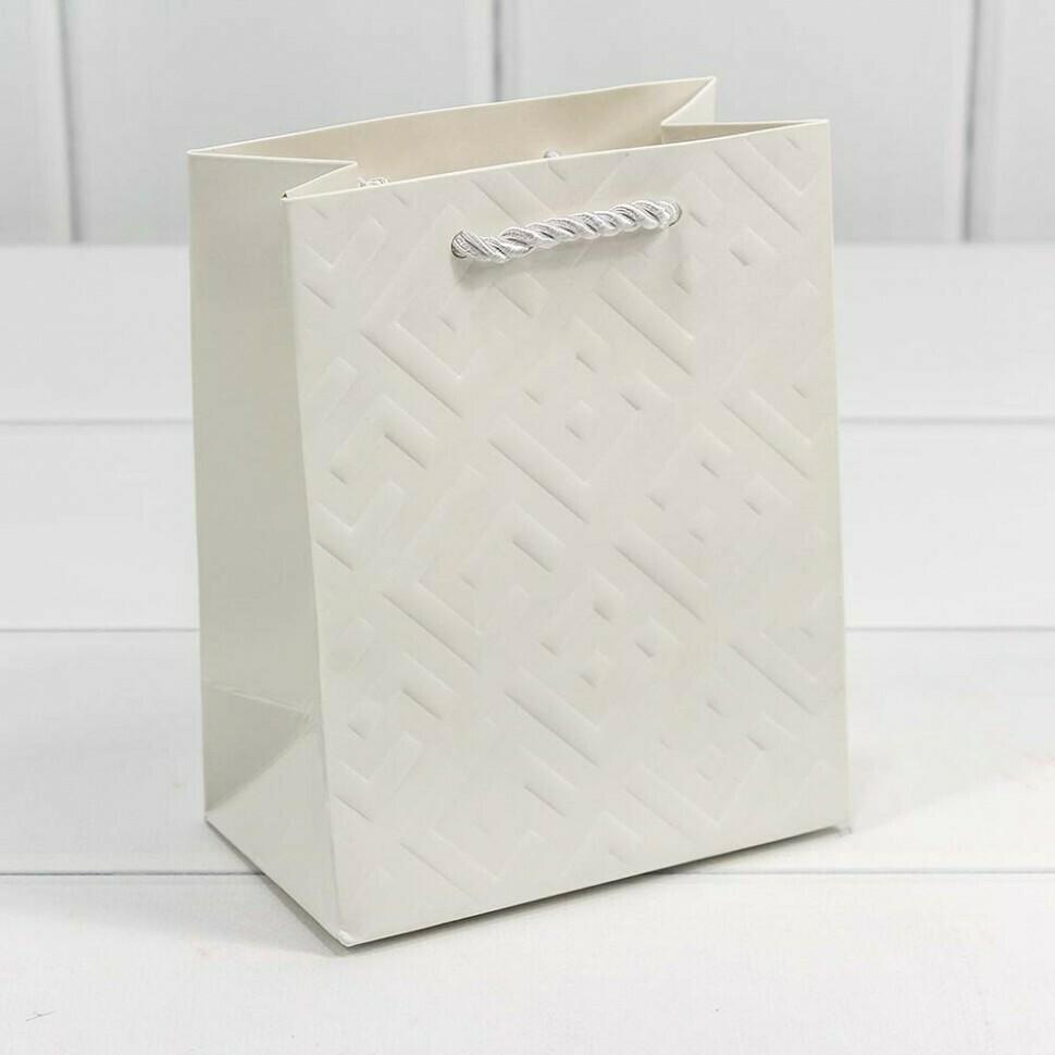"""300600H/2 Пакет подарочный """"Fashion"""" Белый 12*15*7 1/12 1/600"""