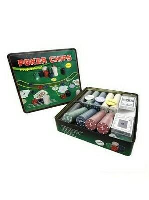 Т500 Покерный набор на 500 фишек в жест. боксе Размер : 32x27x6 см.