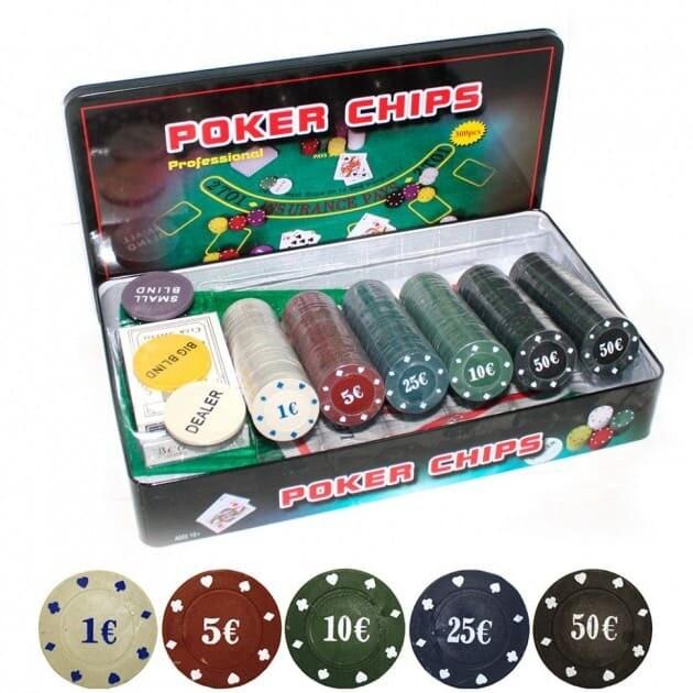 Т300 Покерный набор на 300 фишек в жест. боксе Размер: 33x19x5 см.