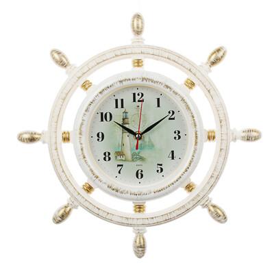 581-844 Часы настенные штурвал, d15см, пластик
