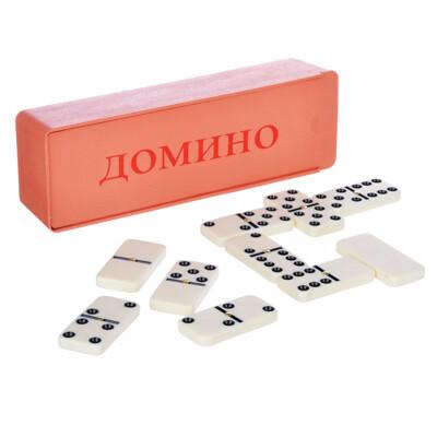341-159 Домино пластик, в пластиковом пенале 17,8х5,8см, пластик