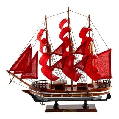 """129016 Модель корабля """"Алые паруса"""" 33*7*32см"""