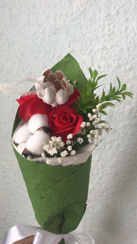 Букет 3 мыльных розы