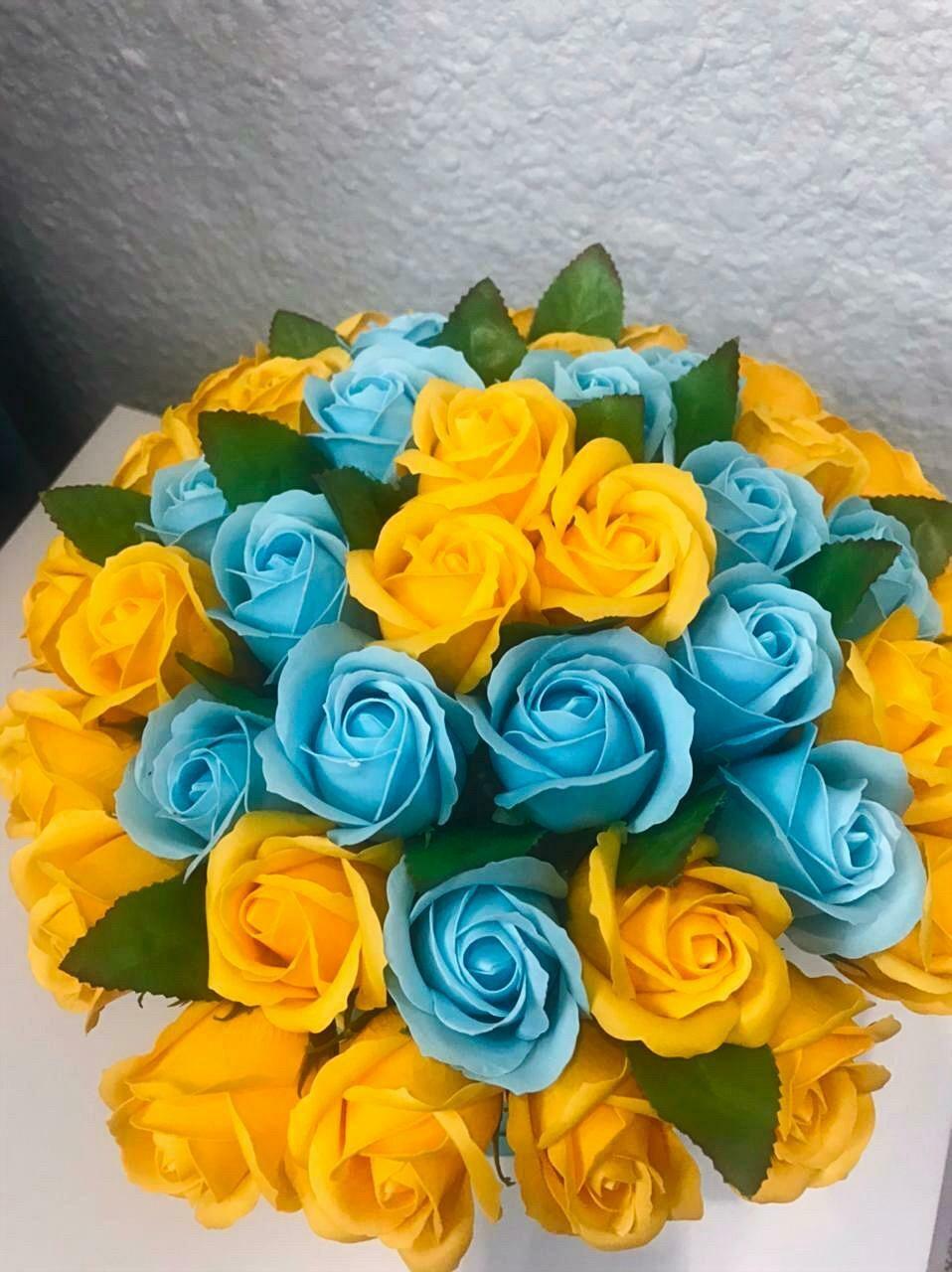 Композиция 41  мыльная роза