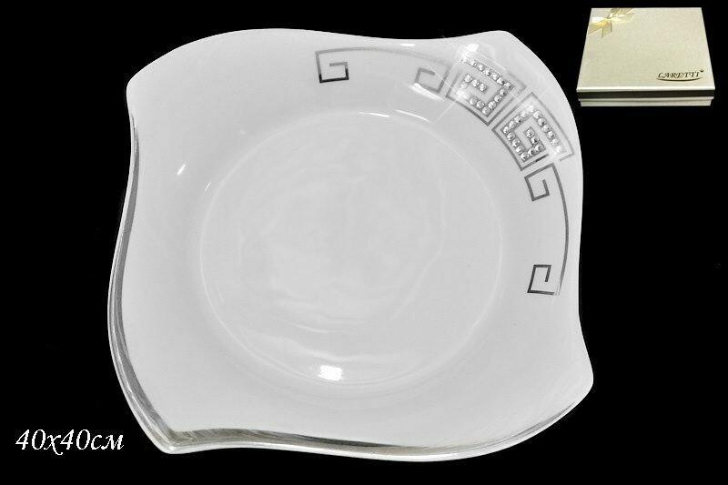 108-014 Блюдо 40см. в под.уп. GIVANCHI PLATINUM   Фарфор