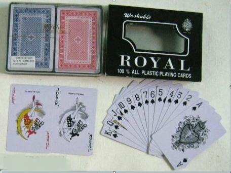 42341 Набор пластиковых игральных карт для покера из 2-х колод